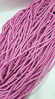 """Яскраво рожевий однотонний 5мм шнур декоративний""""канат"""", фото 1"""