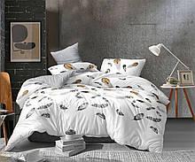 Красивый комплект постельного белья, семейка, Перья. Бязь Gold