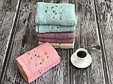 Розовый нежный набор полотенец баня + лицо (2 шт.), фото 4