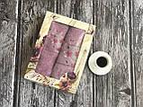 Розовый нежный набор полотенец баня + лицо (2 шт.), фото 6