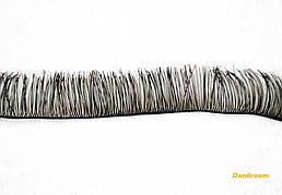 Реснички для кукол, игрушек, Черные, 10 мм, длина ленты 20 см