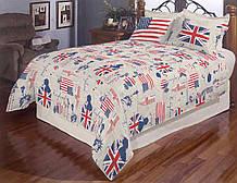 Качественный комплект постельного белья семейка, флаг Америки