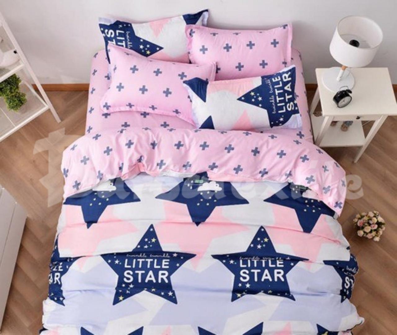Качественное постельное белье евро, маленькая звезда