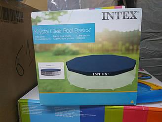 Тент Intex 28030 используется с круглыми каркасными бассейнами