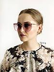 Стильные солнцезащитные очки розово-серые, фото 3