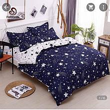 Качественное постельное белье, двухспальное со звездами. Бязь Gold