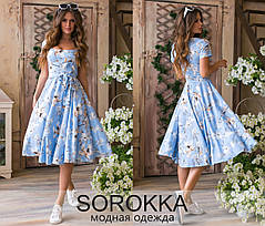 Летнее молодёжное платье из принтованного софта  42-46 размер, фото 2