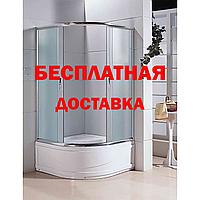Кабина душевая полукруглая 9021 F 90х90х195/ стекло FABRIC/ поддон 40cм.Бесплатная доставка