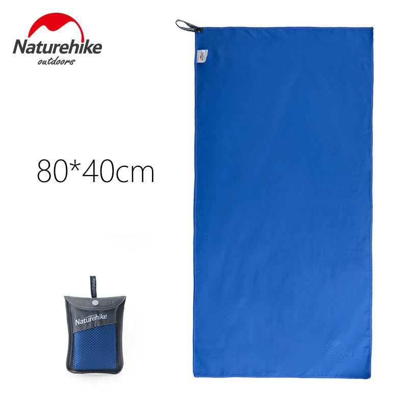 Туристичне рушник Naturehike з мікрофібри 80х40см. Синій.