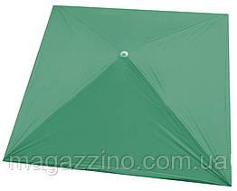 Зонт квадратний, Зелений, 2 х 2 м.
