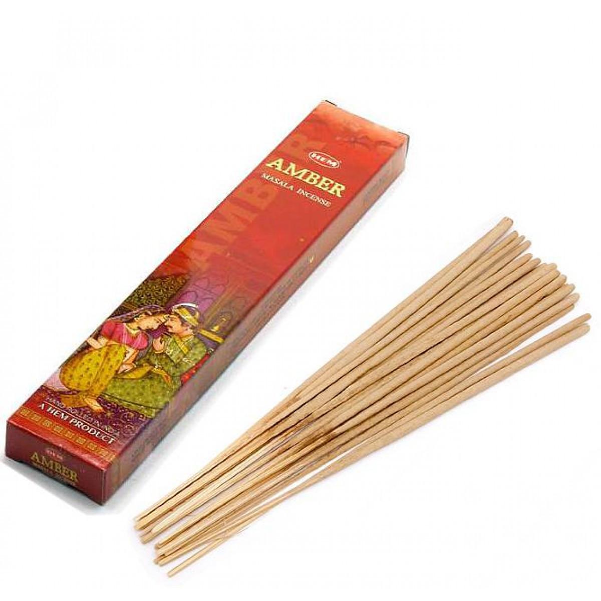 Amber Masala Small Box (Янтарь)(12/уп) (Hem) пыльцовое благовоние