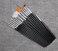 Набор кистей для рисования, росписи и дизайна ногтей, 15 шт.