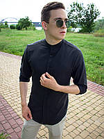 Рубашка мужская льняная Ram x black | ЛЮКС качества, фото 1