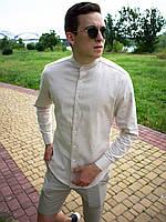 Рубашка мужская льняная Ram x white | ЛЮКС качества, фото 1