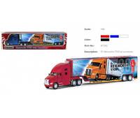 Модель грузовик 13' KT1302W KENWORTH T700 метал.инерц.откр.дв.и прицеп.1:68.3цв.кор.(KT1302W)