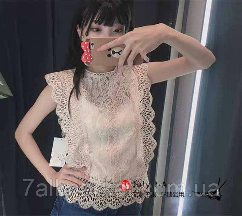 """Блузка женская кружевная,без рукава, размеры M-L (4цв) """"SPRING"""" купить недорого от прямого поставщика"""
