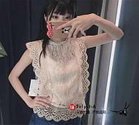 """Блузка женская кружевная,без рукава, размеры M-L (4цв) """"SPRING"""" купить недорого от прямого поставщика, фото 1"""