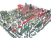 Военный набор солдатиков укреплений оружие танки самолеты 232 шт
