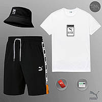 Комплект мужской летний Puma World black-white Шорты + Футболка | ЛЮКС качества, фото 1