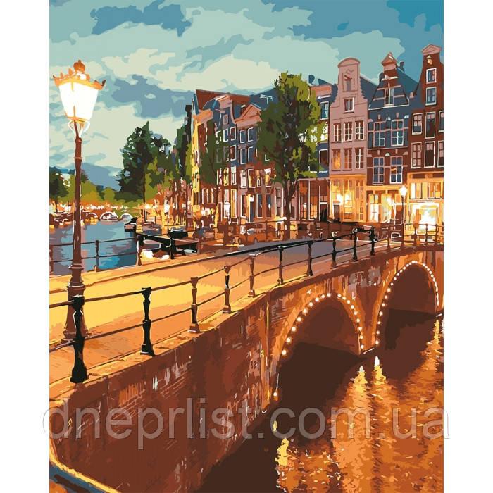 """Картина за номерами """"Вечірнє місто"""", 40х50 см, 5*"""