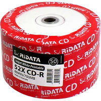Диск CD RIDATA 700MB 52X Bulk50, Printable (901OEDRRDA169)