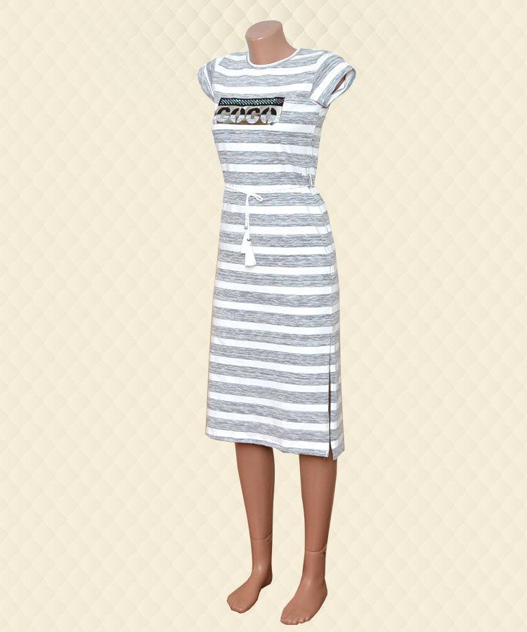 Платье с разрезами нашивка кулир