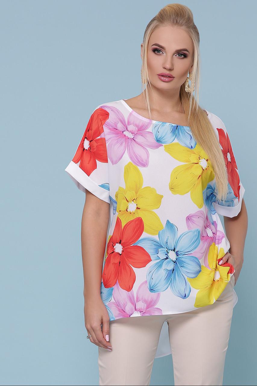 Туника с цветами больших размеров