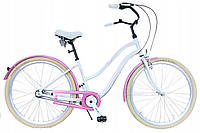 Велосипед жіночий Beach Cruiser Cossack 28 Nexus 3 White-Pink