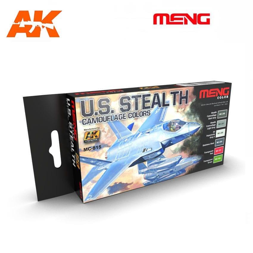 Набор красок для моделей самолетов Стелс камуфляж. AK-INTERACTIVE MC815