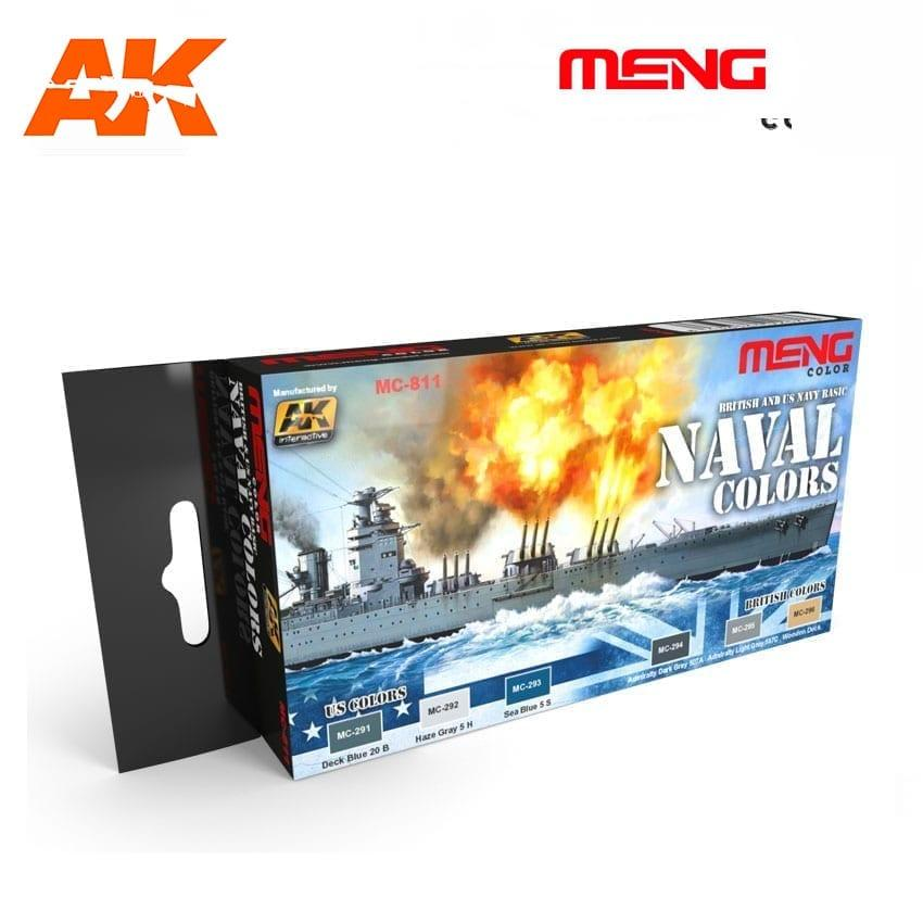 Набор красок для сборных моделей кораблей. Американские и Британские ВМС. AK-INTERACTIVE MC811