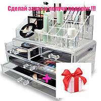 Акриловий органайзер На Основі силікону для косметики Cosmetic Storage Box, фото 1
