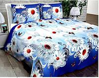 Комплект постельного белья MILANA Ромашка с завитком Евро (RTY0309)