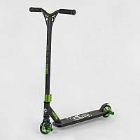 Самокат трюковый Best Scooter с HIC системой с пегами 75443, алюминиевый диск и дека, колёса PU, d=10 см, черный