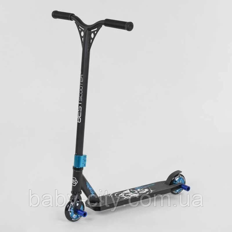 Самокат трюковый Best Scooter 32269, HIC-система, ПЕГИ, алюминиевый диск и дека, колёса PU, d=10 см