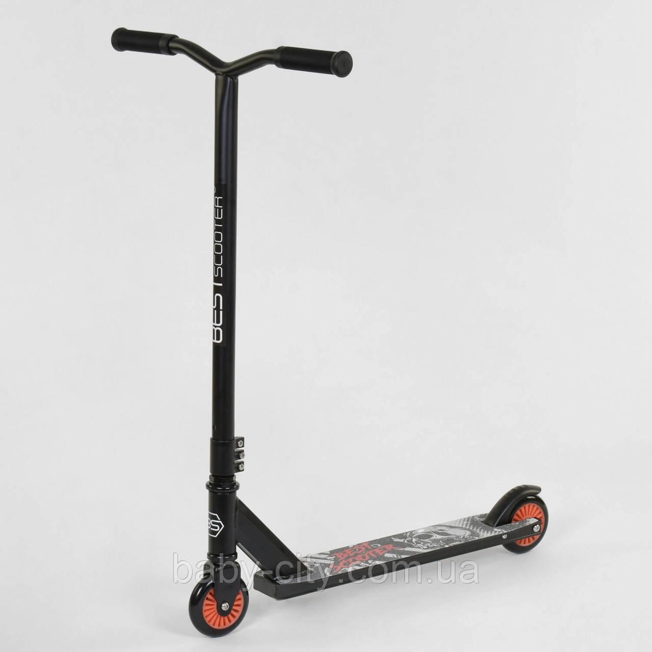 Самокат трюковый Best Scooter 70329 Черно-Красный