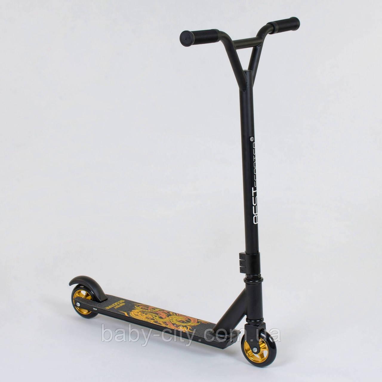 Самокат трюковый Best Scooter 41770 Черно-Оранжевый