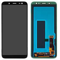 Дисплейный модуль LCD Samsung J600F/J6-2018 + touch Black Copy