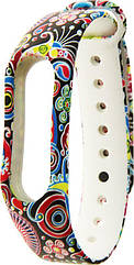 Ремешок UWatch TPU Replacement Print Design #1 Wrist Strap  for Mi Band 2 Flowers