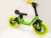 """Велобег 10"""" EVA колеса Салатовый (Cosmo bike) Kinderway"""