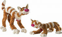 Мягкая игрушка детская из искусственного меха Кот Бекон Fancy, рыжий, 65 см
