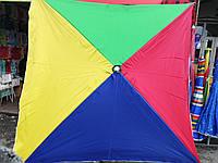 """Зонт 2x2м """"РАДУГА"""" торговый, с  серебряным напылением, фото 1"""