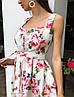 """Чудесное платье """"Пион"""", ткань: коттон-атлас. Размер:42-44.Разные цвета (2181), фото 3"""