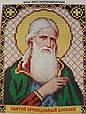 Набор для вышивки бисером ArtWork икона Святой Преподобный Алексей VIA 5015, фото 2