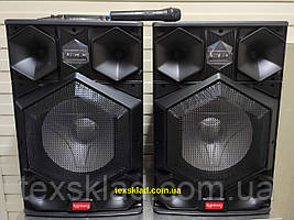 Активна акустична система RB-886 Супер БАСС 400W з мікрофоном (Usb/FM/BT/LED підсвічування)