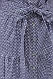Летнее платье с короткими рукавами голубое в белый горошек Джела, фото 5