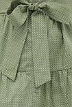 Летнее платье с короткими рукавами оливковое в белый горошек Джела, фото 5