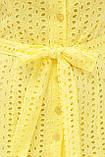 Летнее хлопковое платье на пуговицах желтое Уника 1, фото 5