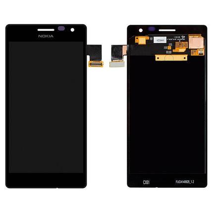 Дисплей (экран) для Microsoft (Nokia) 735 (RM-1038) с сенсором (тачскрином) черный, фото 2