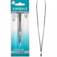 Пинцет «ZINGKO CLASSIC» сталь 9 см