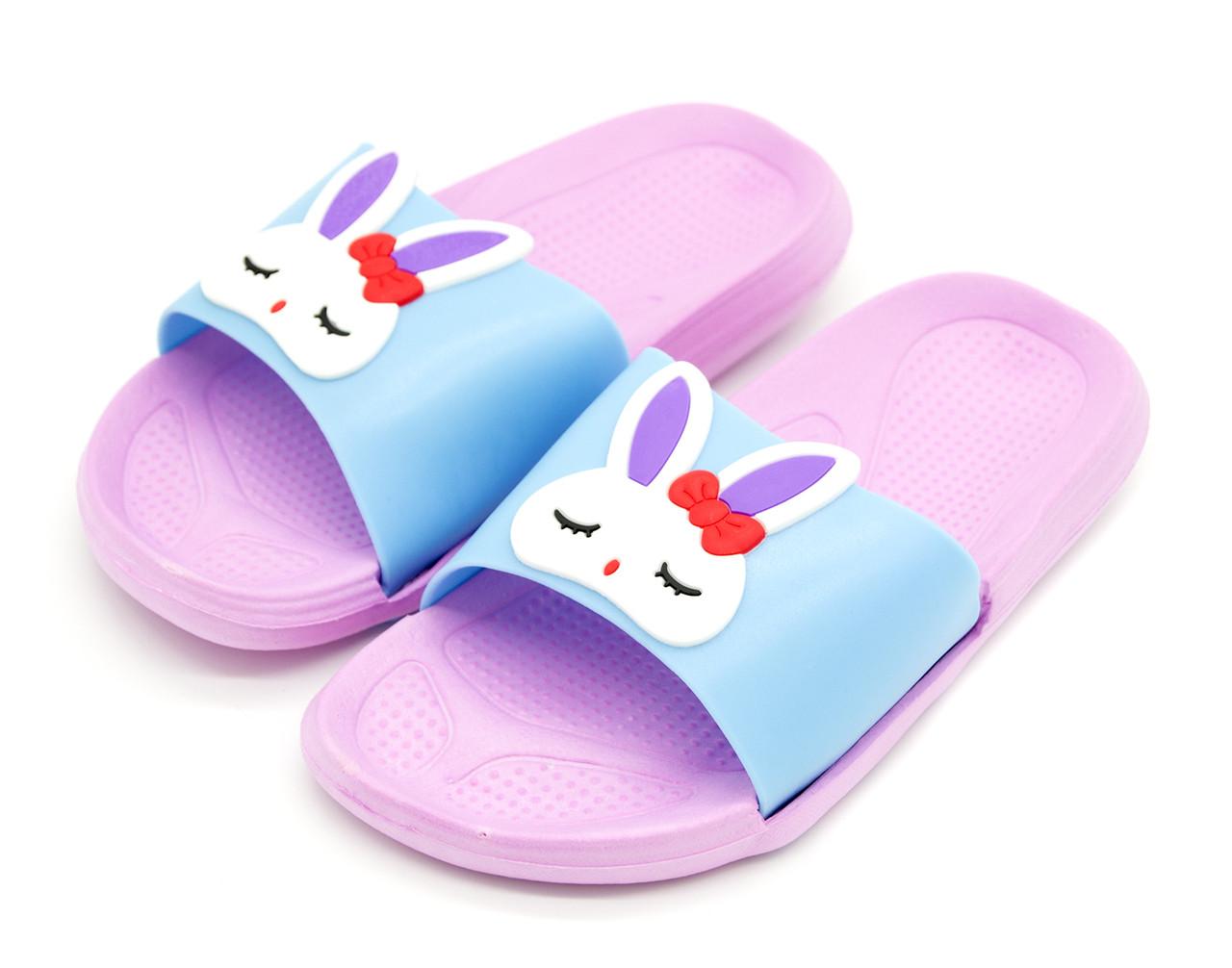Шлепанцы Для девочек Розово-голубой